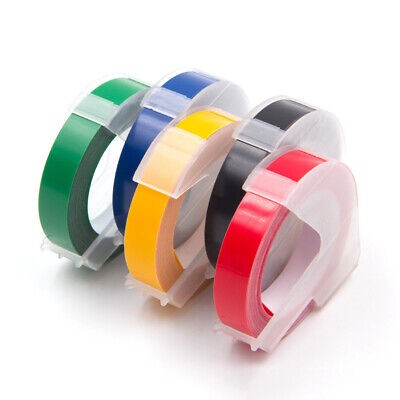 5pk Replacement Dymo 3d Plastic Embossing Tapes For Label Makers 38 Dymo 3d