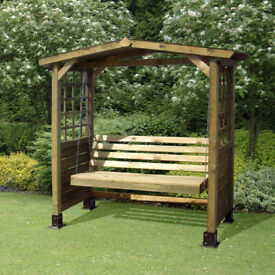 Poseidon Timber Garden Swing Seat Arbour Used in Bath