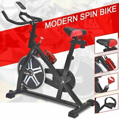 Stationary Exercise Bike Spin Cycling Bicycle Fitness Gym Ca