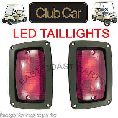 Club Car 1982-Newer DS Golf Cart LED Tail Light Kit, 2 LED 3 WireTaillights - Golf Cart Lights
