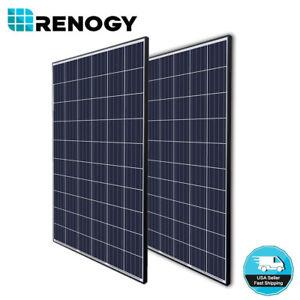 2 Pcs Renogy 270W Poly Solar Panel On Off Grid Power 500 Watt 540W 500W 24V 48V