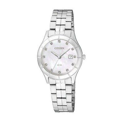 Citizen Women's EU6040-52D Quartz Silver-Tone Bracelet 28mm Watch