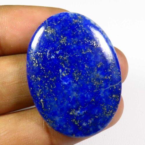 NATURAL BLUE LAPIS LAZULI CABOCHON 36x26 MM. OVAL GEMSTONE FREE SHIPPING LS-37