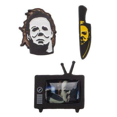 Halloween Set of 3 Pins Pinbacks Lapels Movie Curse of Michael Myers Knife TV