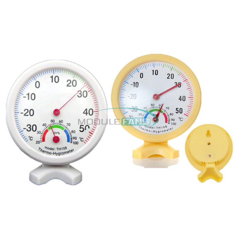 Large Dial Indoor TH108 Hygrometer Humidity Thermometer Temp Temperature Meter