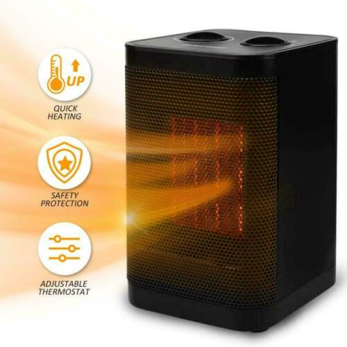 Ceramic Portable Space Heater With Adjustable Thermostat-1500w Mini Electric Ptc