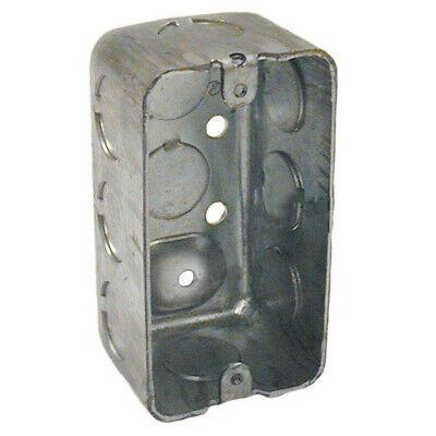 New Lot 10 Raco Metal 1 78 Utility Single Gang Electrical Handy Boxes