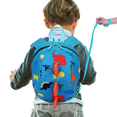 Unsex Cute Toddler Kids Baby Mini Backpack Cartoon Dinosaur School Bag Rein
