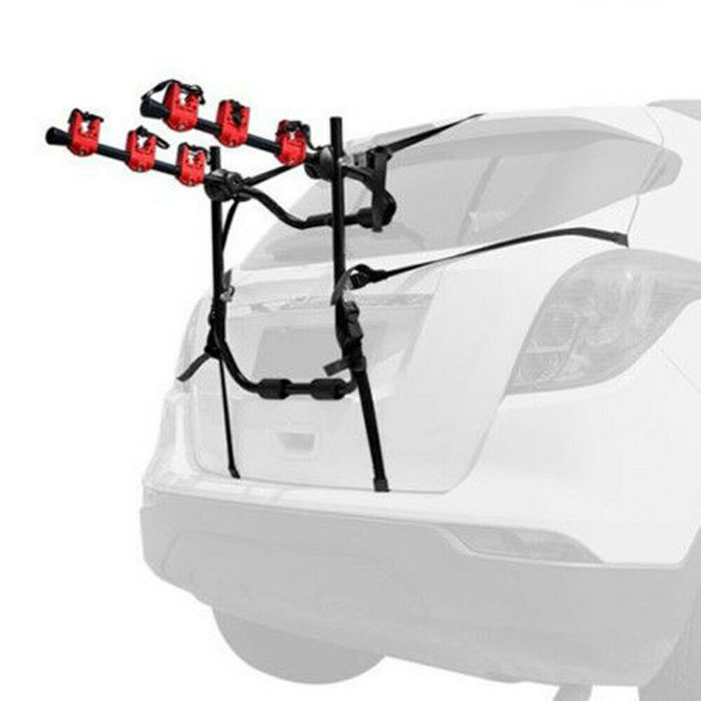 Heavy Duty 3-Bike Trunk-Mount Hatchback SUV Car Bicycle Carrier Rack Portable US