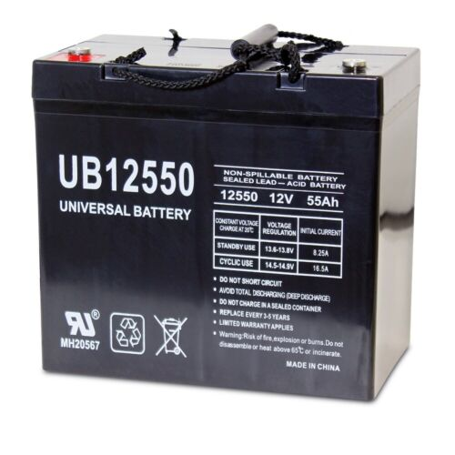 UPG UB12550 12V 55AH Insert Terminal Battery for Merits P200