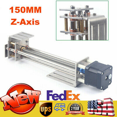 Z-axis Slide 150mm Diy Milling Linear Motion Guide Rail For Cnc Engraving Machin