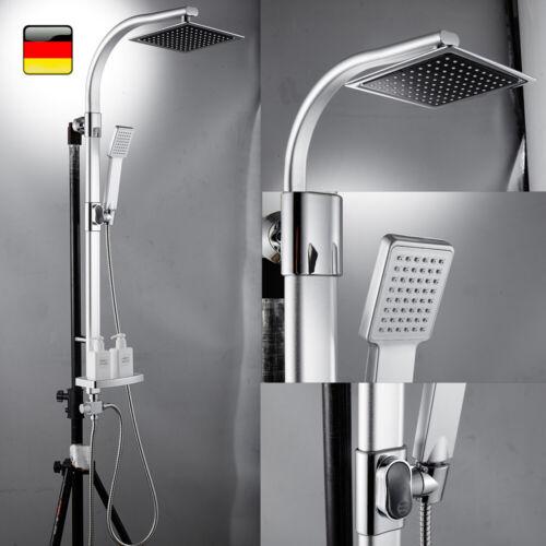 Duschset Duschkopf Duscharmatur Regendusche Duschsystem Duschstange Brause Chrom
