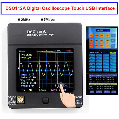 Dso112a Digital Oscilloscope Portable Mini Usb Wave Multimeter Tester 2mhz 5msps