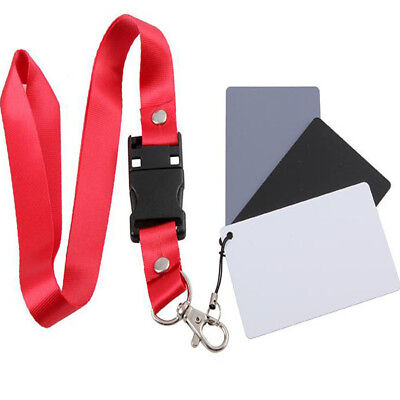 1 With Neck Strap Balance Cards 18% Gray Card Exposure Cards Digital Gray Card