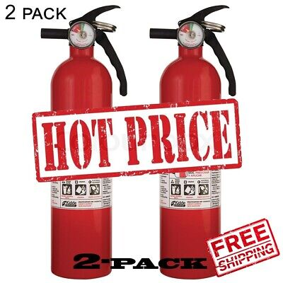 2 Pack Kidde 1-a10-bc Recreational Fire Extinguisher Home Garage Vehicle
