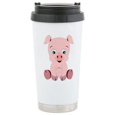 CafePress Pink Pig Stainless Steel Travel Mug (207023181)