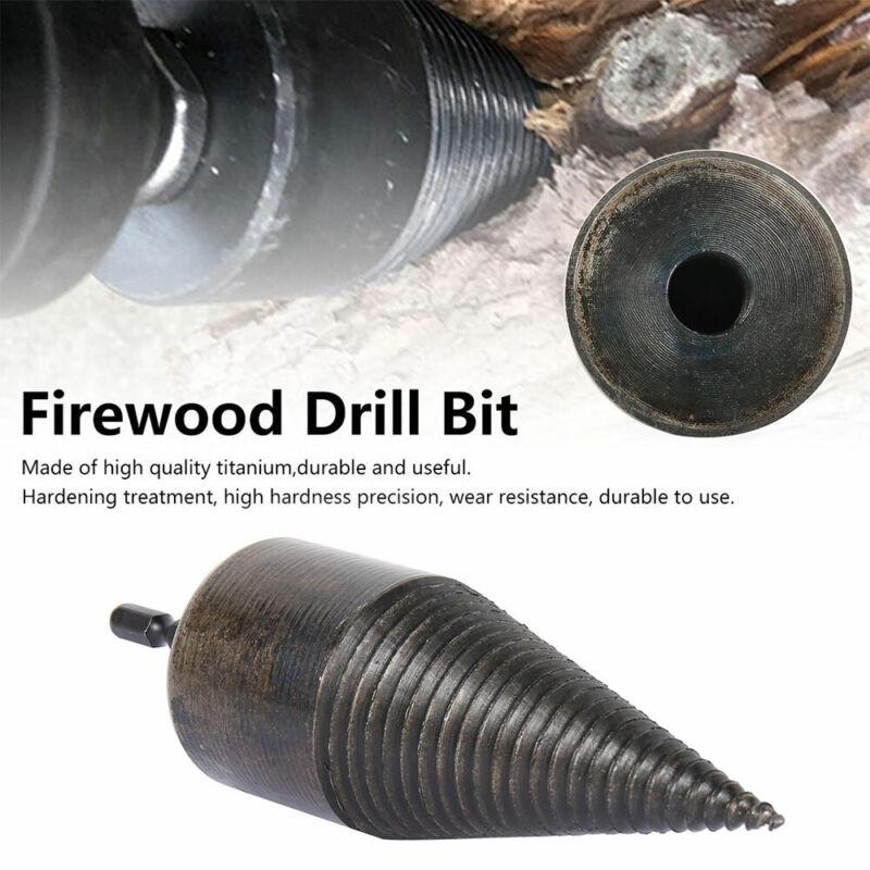 High Speed Twist Firewood Drill Bit Splitting Cone Driver Wo