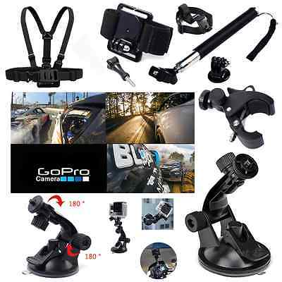 Pole Head Chest Mount Strap GoPro Hero 2 3 4 5 Action Camera Accessories Set US