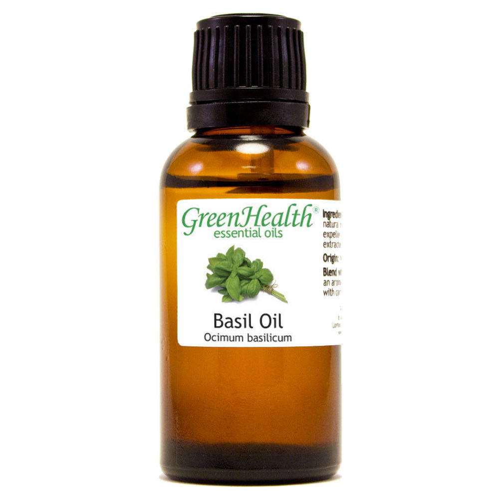 Essential Oils 30 mL (1 oz) - Pure & All Natural - Aromatherapy Oil Basil