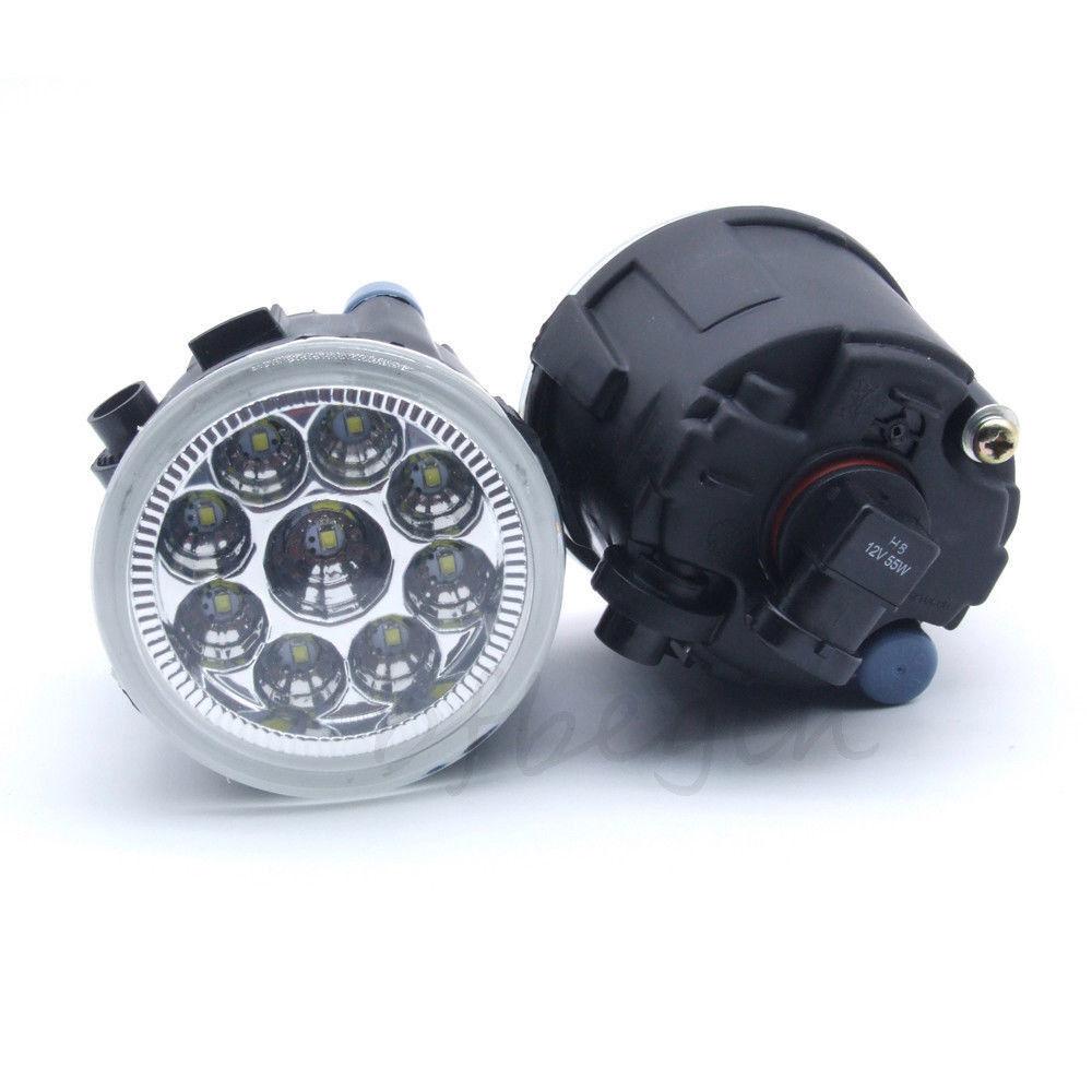 2x Right Left Fog Lamp Light Led Daytime Running Light Drl
