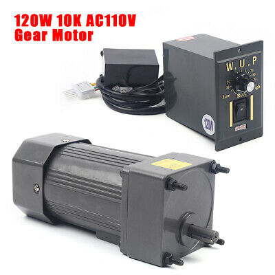 120w 110v Ac Gear Motor Electric Variable Speed Controller Torque 110 0-135rpm