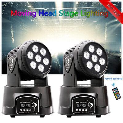 2x 105W RGBW Wash 7LED 9/14CH DMX Mini Moving Head Stage Light Lighting DJ Disco