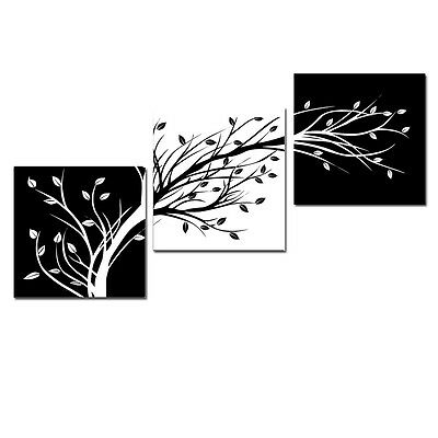 Abstract Canvas Art Print Photo Painting Wall Home Decor Poster Black White Tree