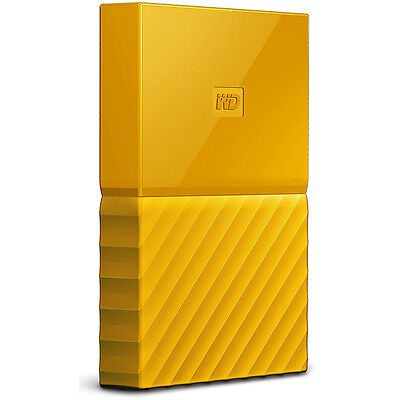 Western Digital WD 1TB My Passport Portable Hard Drive - Yellow