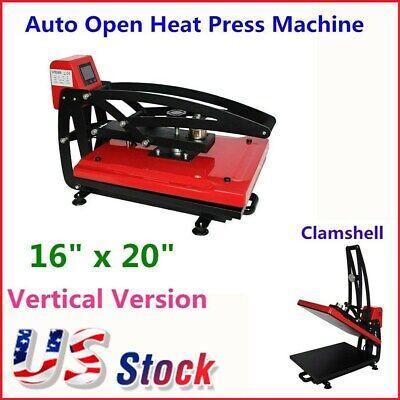 110v 16 X 20 Auto Open Heat Press Machine Lcd Touch Screen - Usa Stock
