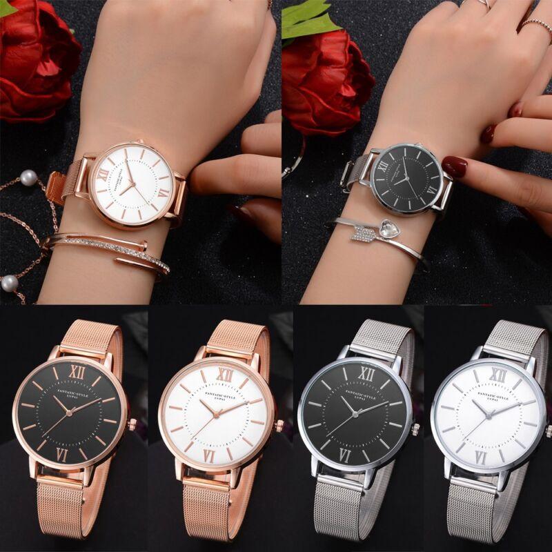 Women's Casual Bracelet Watch Quartz Mesh Belt Band Fashion