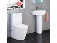 Bathroom Toilet, Basin & Pedestal Deal