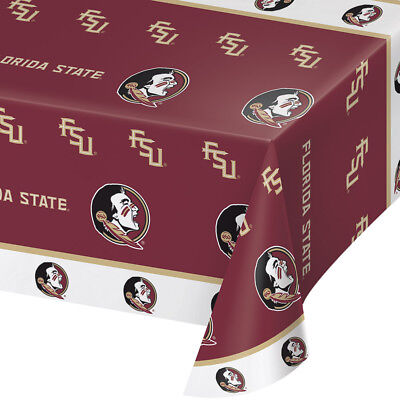 2-ct Florida State University Seminoles Plastic Table Covers College Party  (Fsu Party Supplies)