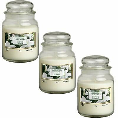SET 3 CANDELA PROFUMATA 550 gr IN VETRO GELSOMINO GIARA COVER YANKEE CANDLE