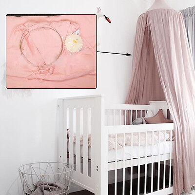pink canopy bed netting mosquito bedding baby play tent
