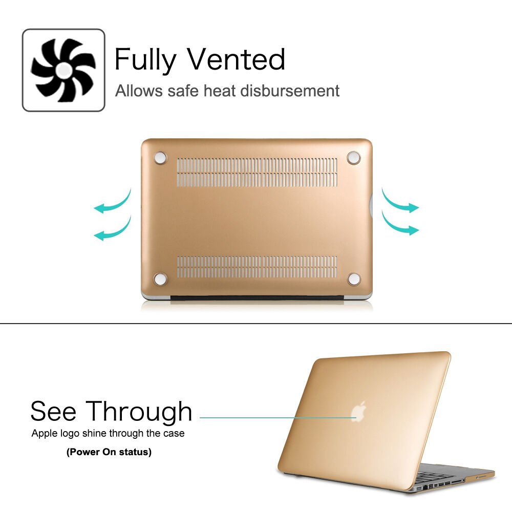 """как выглядит Slim Smooth Snap On Case Plastic Hard Cover For MacBook Pro 13.3"""" A1278 фото"""