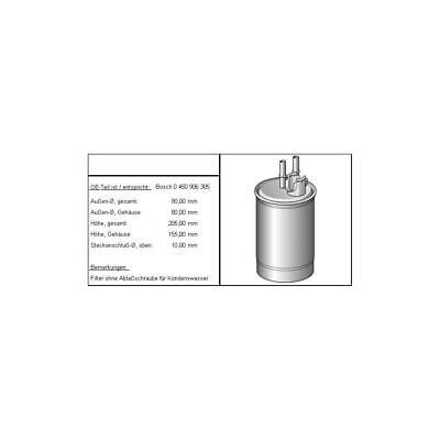 Kraftstofffilter, 1 Stück