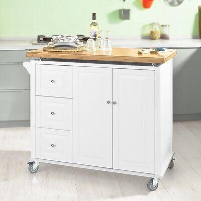 SoBuy® Luxus-Küchenwagen,Kücheninsel,Küchenschrank,Rollwagen FKW30-WN