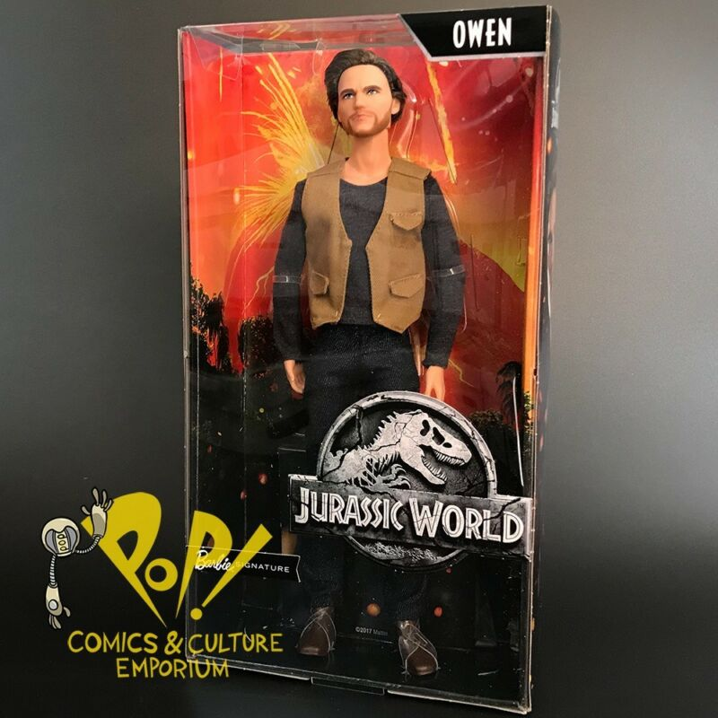 NEW Barbie Signature Jurassic World Owen Doll Mattel Ships Free