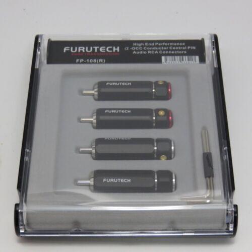 FURUTECH  FP-108(R) RCA connector plug 4pcs Set / rhodium plating New