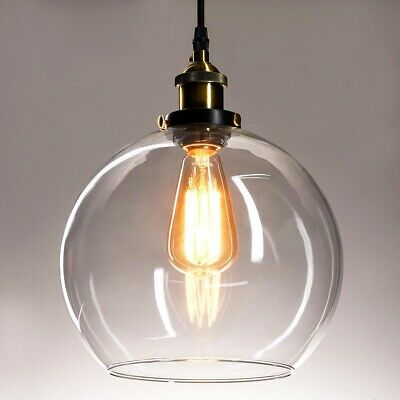 Vintage Industrial Pendant Light Ceiling Hanging Glass Ball