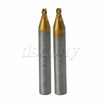 2pcs 2.5mm Milling Cutter Drill Bit Key Cutter Cutting Machine Locksmith Tools