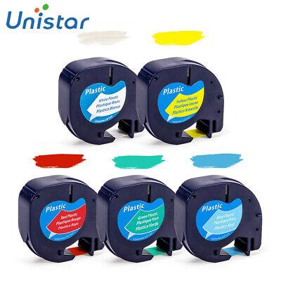5pk 91331 Plastic Tape Cartridge Compatible Dymo Letratag Label Maker 12mm