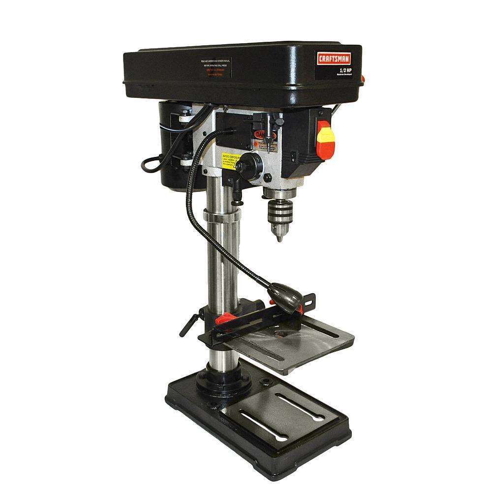 "Craftsman 10"" Bench Laser Drill Press 1/2 HP Motor Garage Po"
