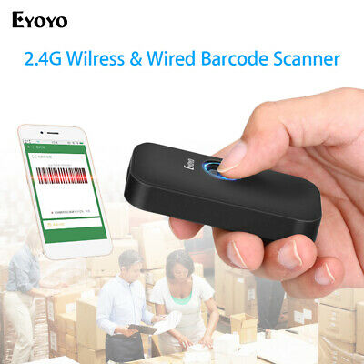 Pocket 2.4g Wireless Wired Bluetooth Barcode Scanner For Iphone Android Pc