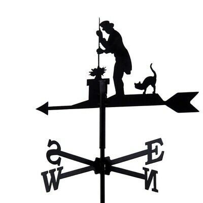 Standard Chimney Sweep Metal Weathervane (Vertical Fixing Bracket)