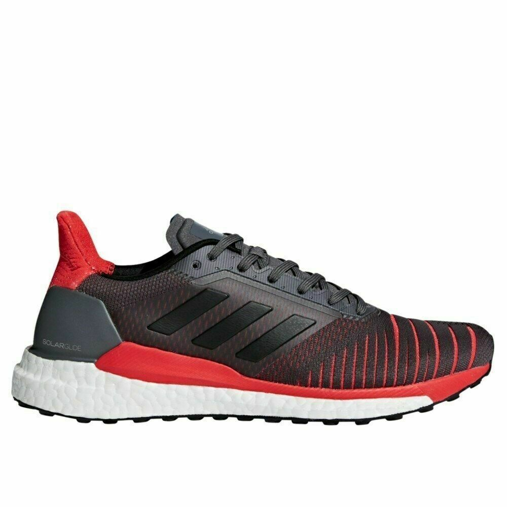 Adidas Solar Boost Men's Running Shoes  Grey / Black / Red C