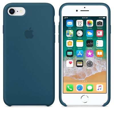 "COSMOS BLUE  REAL ORIGINAL Apple Silicone Case iPhone 8 4.7"""