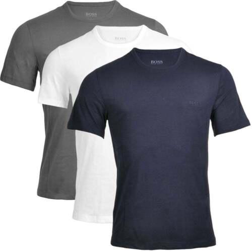 HUGO BOSS Men's 3-Pack Cotton Classic Crew Neck T-Shirt, Grey,