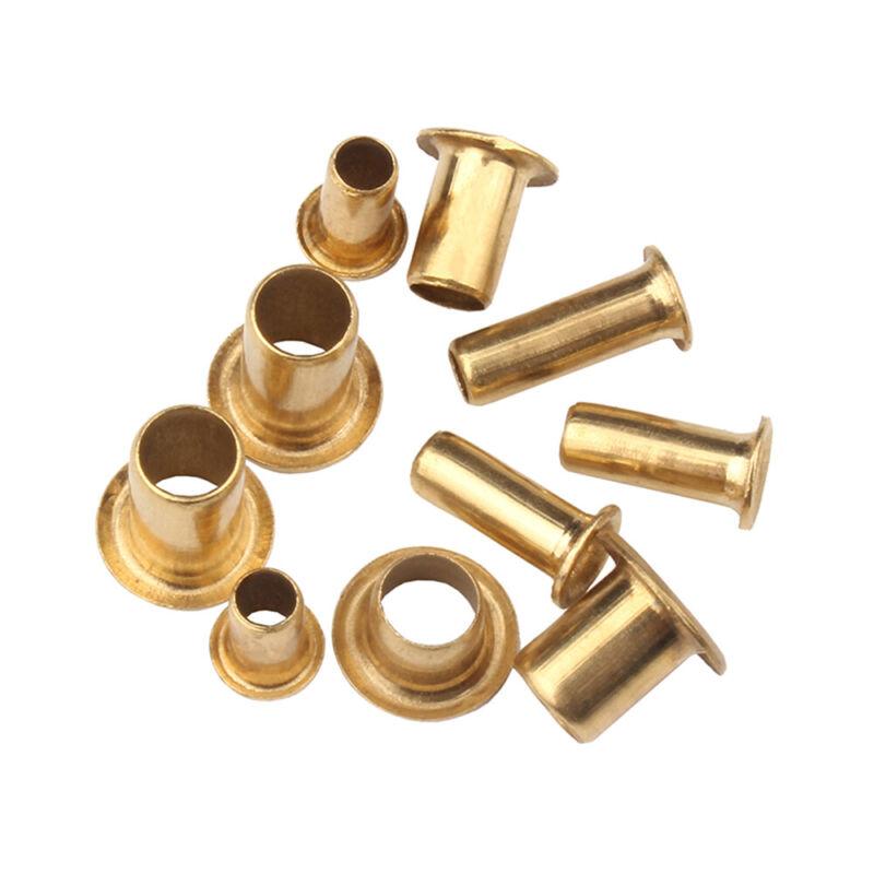 M1.5 M1.7 M2 M2.5 Brass Tubular Rivets Nuts Through Hole Rivets Hollow Grommets