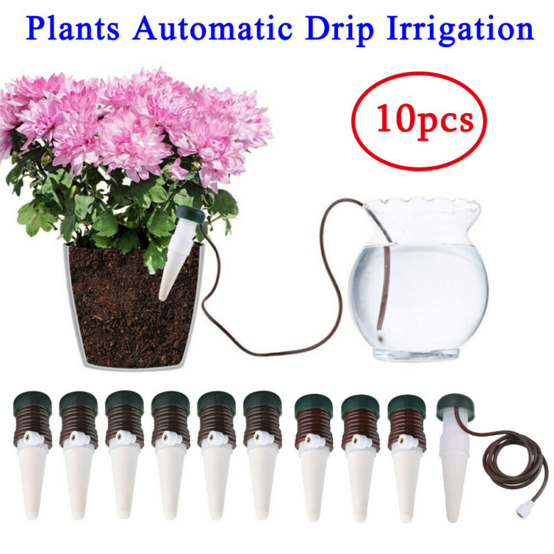 Indoor Plants Automatic Drip Irrigation Watering System Flow